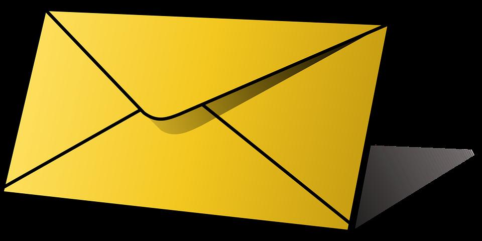 žlutá obálka